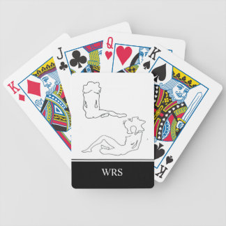 CHIC PLAYING CARDS_#6 FIGURE DRAWING/INITIALS BICYCLE PLAYING CARDS