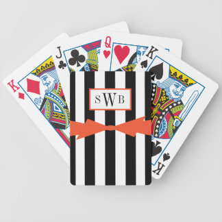 CHIC PLAYING CARDS_BLACK/WHITE STRIPES/FLAME POKER DECK