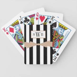 CHIC PLAYING CARDS_BLACK/WHITE STRIPES/HAZELNUT BICYCLE PLAYING CARDS