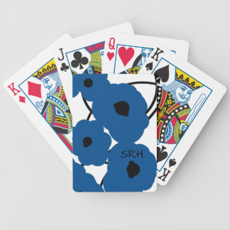 CHIC PLAYING CARDS_MOD LAPIS BLUE & BLACK POPPIES POKER DECK