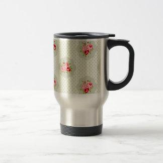 chic polka dot teal red floral white vintage pink coffee mugs