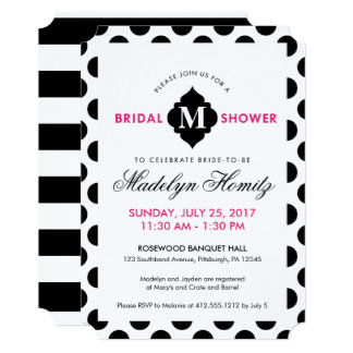 Chic Pop of Colour Bridal Shower Invitations
