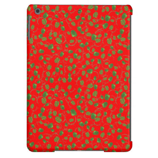 Chic Poppy Buds on Red iPad Air Case-Mate Case