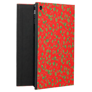 Chic Poppy Buds on Red Powis iCase iPad Case