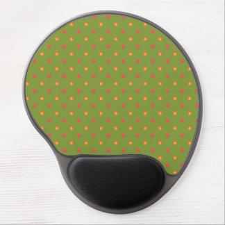 Chic Poppy Colours Polka Dots Gel Mousepad