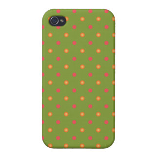 Chic Poppy Colours Polka Dots iPhone 4 Savvy Case Cases For iPhone 4