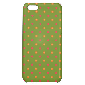 Chic Poppy Colours Polka Dots iPhone 5c Savvy Case Case For iPhone 5C