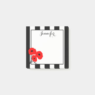 CHIC POST-IT-NOTE_MOD 01 RED POPPIES POST-IT NOTES