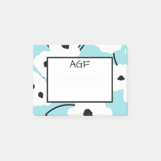 ###CHIC POST-IT-NOTE_MOD WHITE & BLACK POPPIES POST-IT NOTES