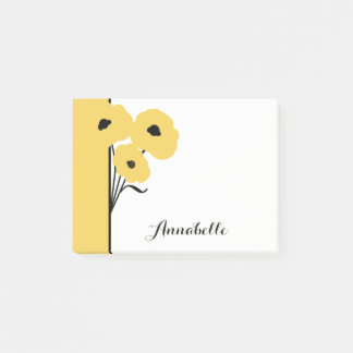 CHIC POST-IT-NOTE_MOD YELLOW  POPPIES POST-IT NOTES