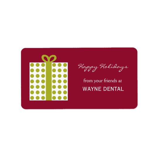 Chic Present Gift Tag Label - Cranberry