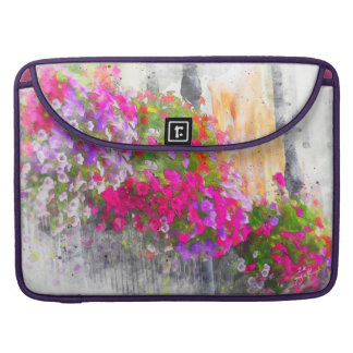 Chic Pretty Floral Watercolor Modern Elegant Sleeve For MacBook Pro