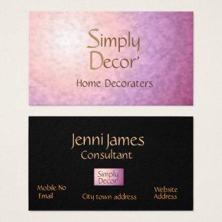 Chic Pretty Pink Orange> Home Decor Business Card