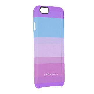 Chic Purple & Blue Striped iPhone 6 case