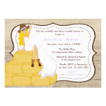 Chic Purple Cowgirl Country Bride Bridal Shower Custom Invitations