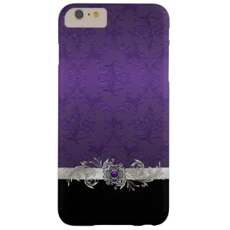 Chic Purple Damask iphone 6 Plus Case