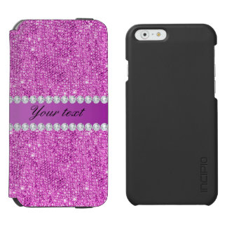 Chic Purple Faux Sequins and Diamonds Incipio Watson™ iPhone 6 Wallet Case