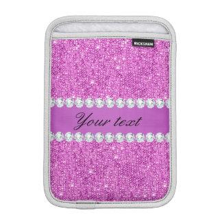 Chic Purple Faux Sequins and Diamonds iPad Mini Sleeve