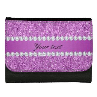 Chic Purple Faux Sequins and Diamonds Wallets