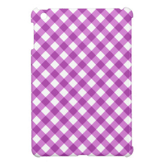 Chic purple gingham pattern checkered checkers iPad mini case
