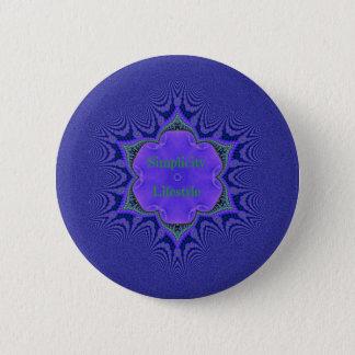 Chic Purple Lavender 'Simplicity Lifestyle' 6 Cm Round Badge