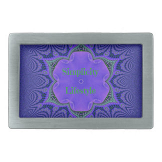 Chic Purple Lavender 'Simplicity Lifestyle' Belt Buckle