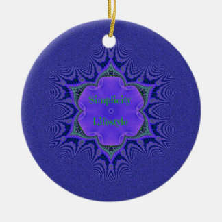 Chic Purple Lavender 'Simplicity Lifestyle' Ceramic Ornament