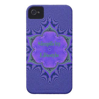 Chic Purple Lavender 'Simplicity Lifestyle' iPhone 4 Case-Mate Case
