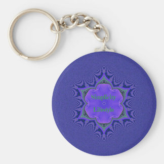 Chic Purple Lavender 'Simplicity Lifestyle' Key Ring