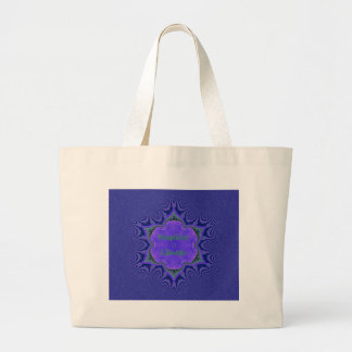 Chic Purple Lavender 'Simplicity Lifestyle' Large Tote Bag
