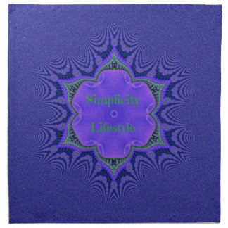 Chic Purple Lavender 'Simplicity Lifestyle' Napkin