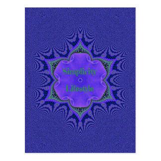 Chic Purple Lavender 'Simplicity Lifestyle' Postcard