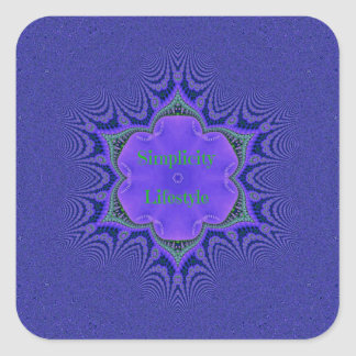 Chic Purple Lavender 'Simplicity Lifestyle' Square Sticker
