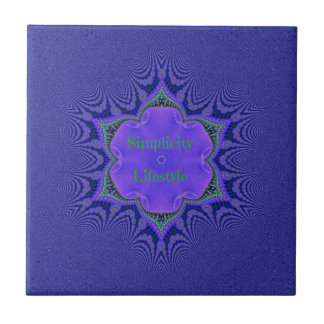 Chic Purple Lavender 'Simplicity Lifestyle' Tile