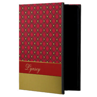 Chic Red and Gold Tufted Pattern iPad Air 2 Case