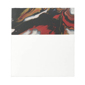 Chic Red Black & Gold Note Pad
