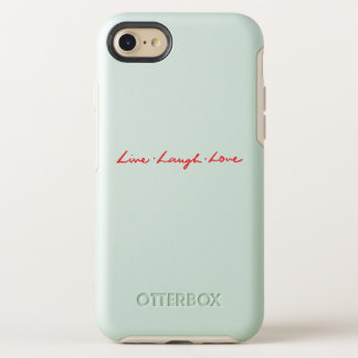Chic Red Handwriting Font Live Laugh Love OtterBox Symmetry iPhone 8/7 Case