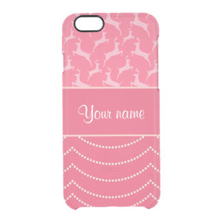 Chic Reindeer and Hanging Lights Personalized Clear iPhone 6/6S Case