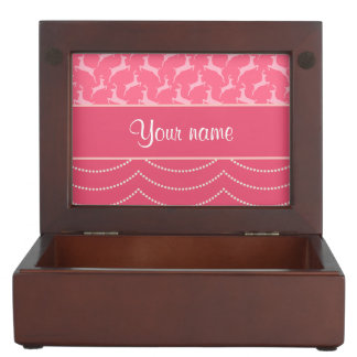 Chic Reindeer and Hanging Lights Personalized Keepsake Boxes