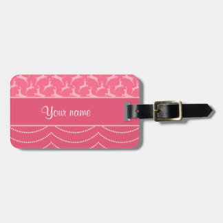Chic Reindeer and Hanging Lights Personalized Luggage Tag