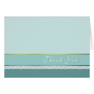 Chic Robins Egg Blue Wedding Thank You Note Card