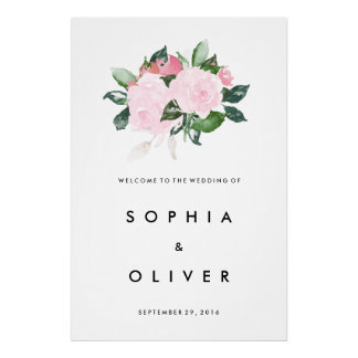 Chic Romance Large Wedding Welcome Sign