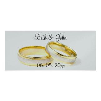 Chic  Romantic Floral Garden Wedding Program 10 Cm X 24 Cm Invitation Card