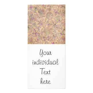Chic romantic flower Pattern, vintage look Rack Card Template