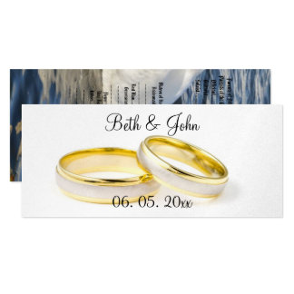 Chic Romantic Swan Garden Wedding Program 10 Cm X 24 Cm Invitation Card
