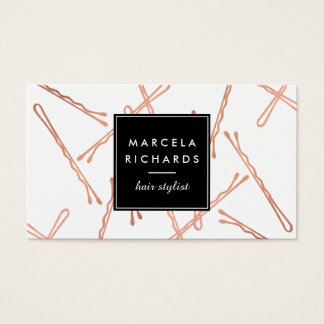 Chic Rose Gold Bobby Pins Hair Stylist Salon
