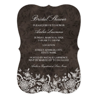 Chic Rustic Floral Bridal Shower Invitation