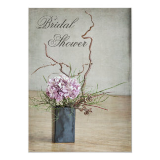 Chic Rustic Hydrangea Arrangement Bridal Shower Card