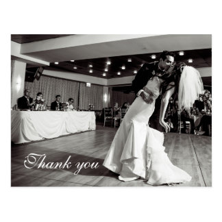 Chic Script Lettered Wedding Thank You Postcard