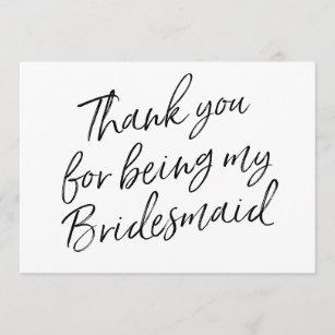 bridesmaid thank you cards zazzle com au